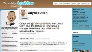Wayne Sutton Twitter Profile